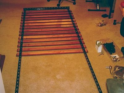 Bass traps: attaching slats